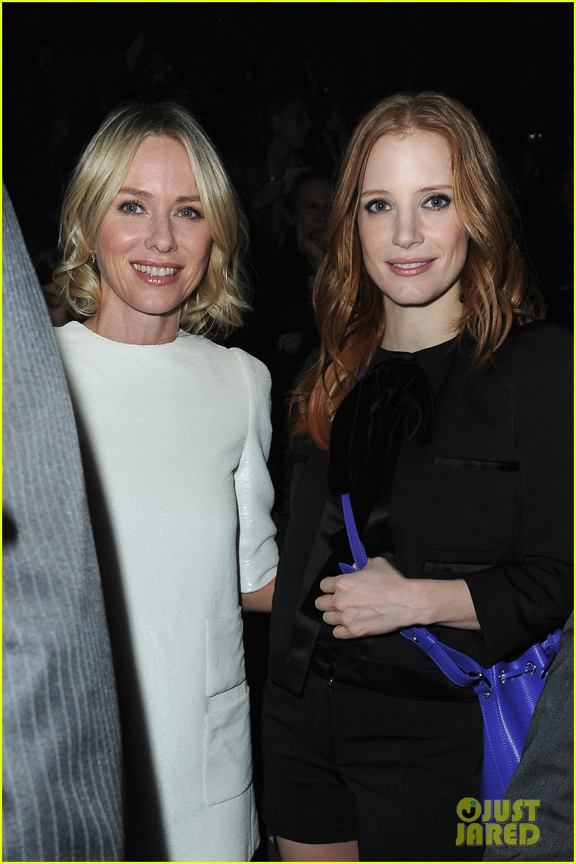 naomi watts jessica chastain louis vuitton fashion show 13