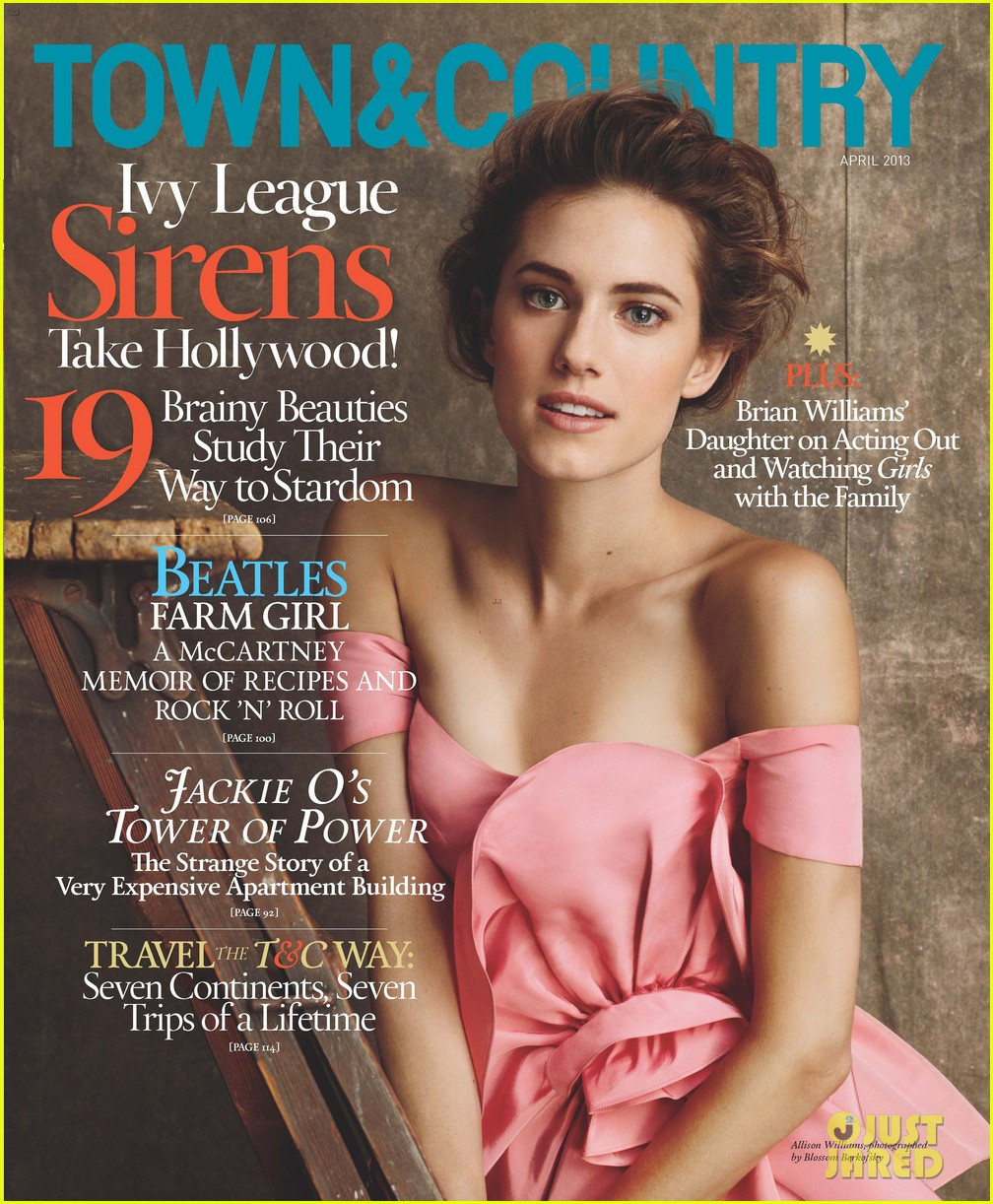 allison williams covers town and country april 2013 052826422