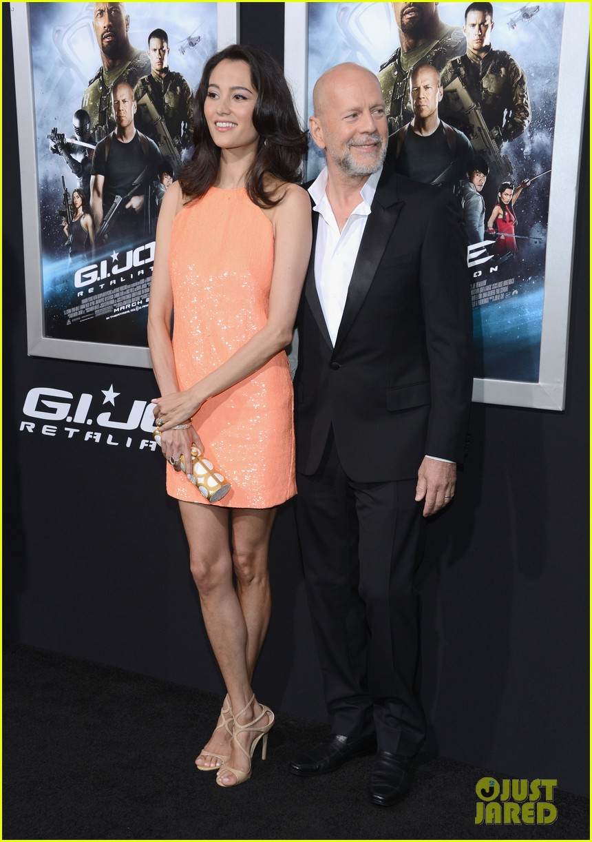 bruce willis gi joe premiere with rumer jayson blair 05