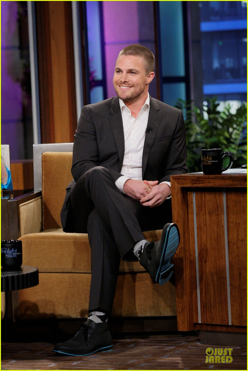 stephen amell male prostitute discussion on leno 01