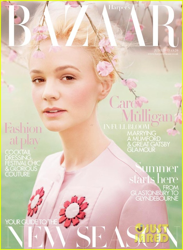 carey mulligan covers harpers bazaar uk june 2013 01