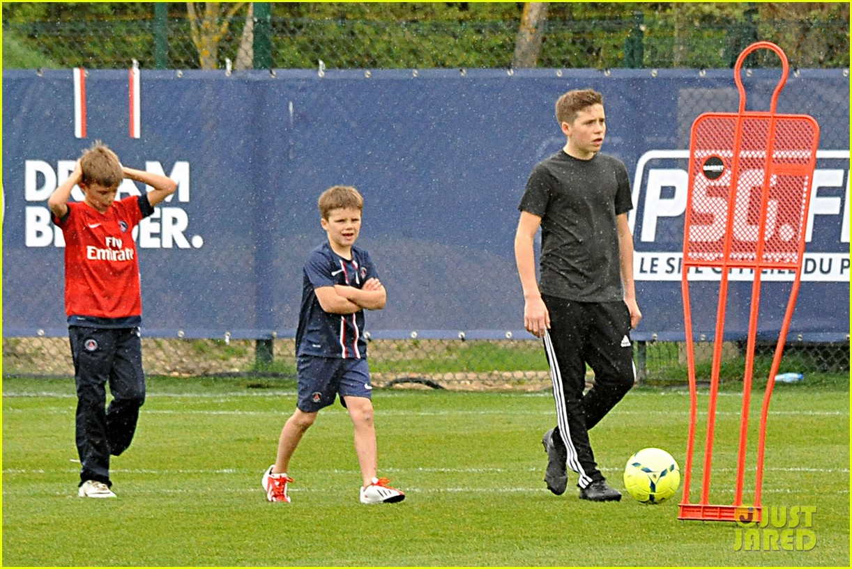 david beckham soccer camp with his sons 06