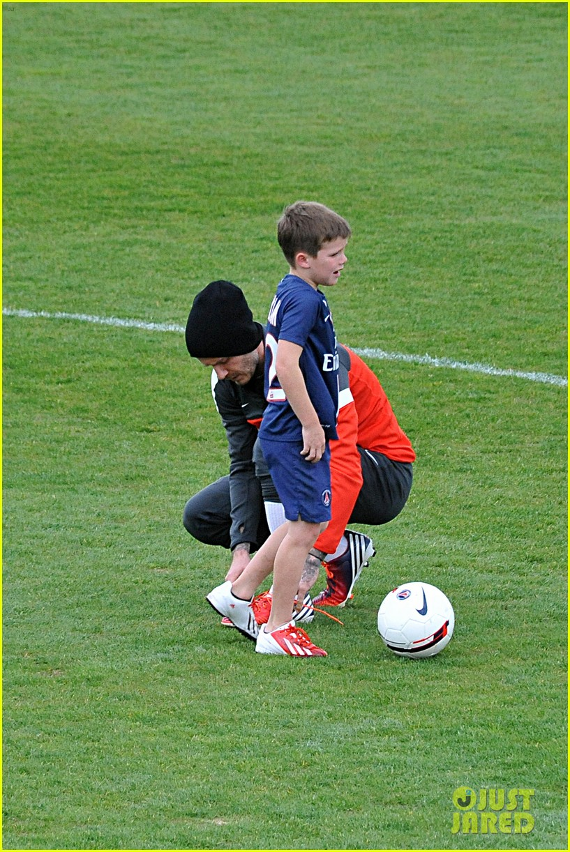 david beckham soccer camp with his sons 15