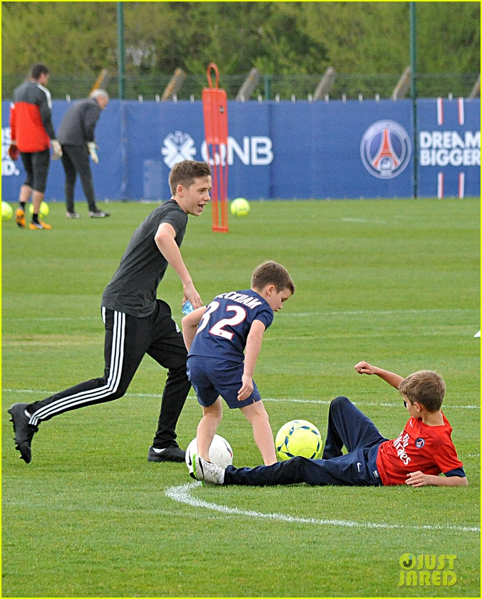 david beckham soccer camp with his sons 232853821