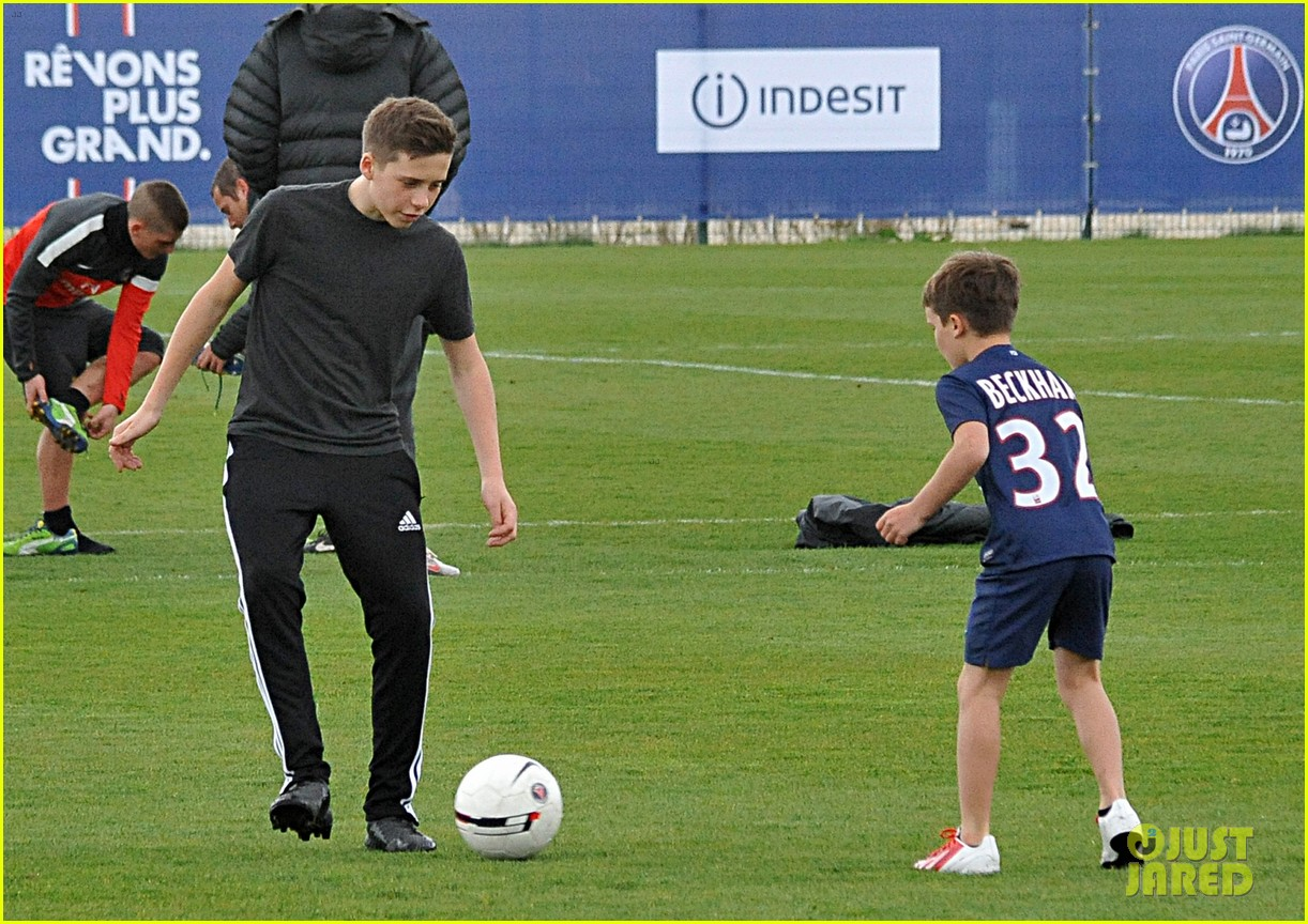 david beckham soccer camp with his sons 242853822