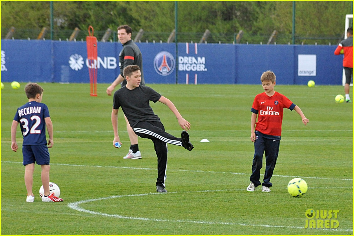 david beckham soccer camp with his sons 26