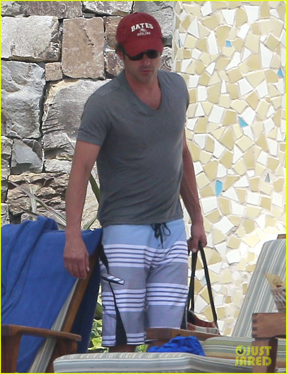 patrick dempsey shirtless mexico vacation with the family 21