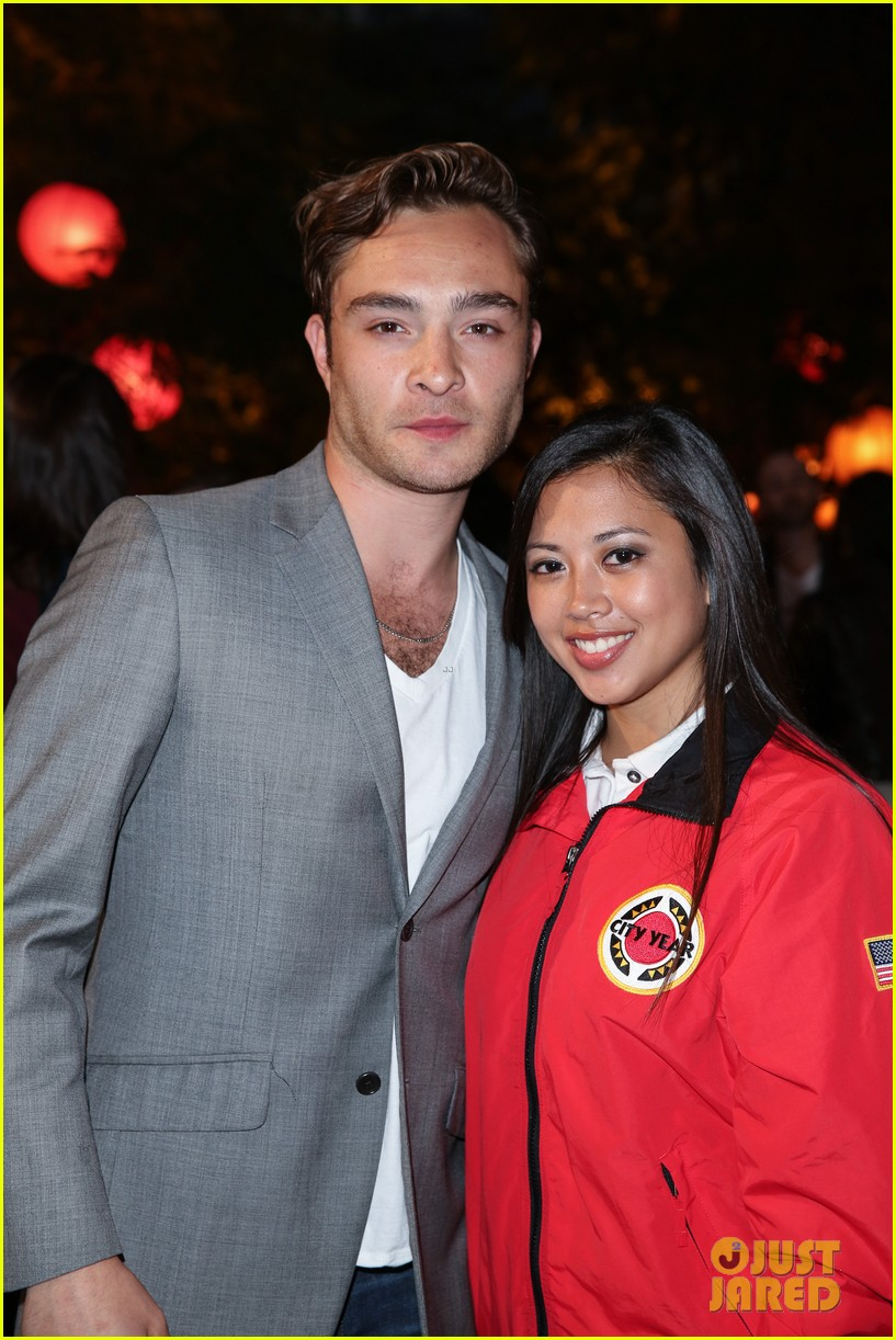 ed westwick jessica szohr city year los angeles fundraiser 2013 09