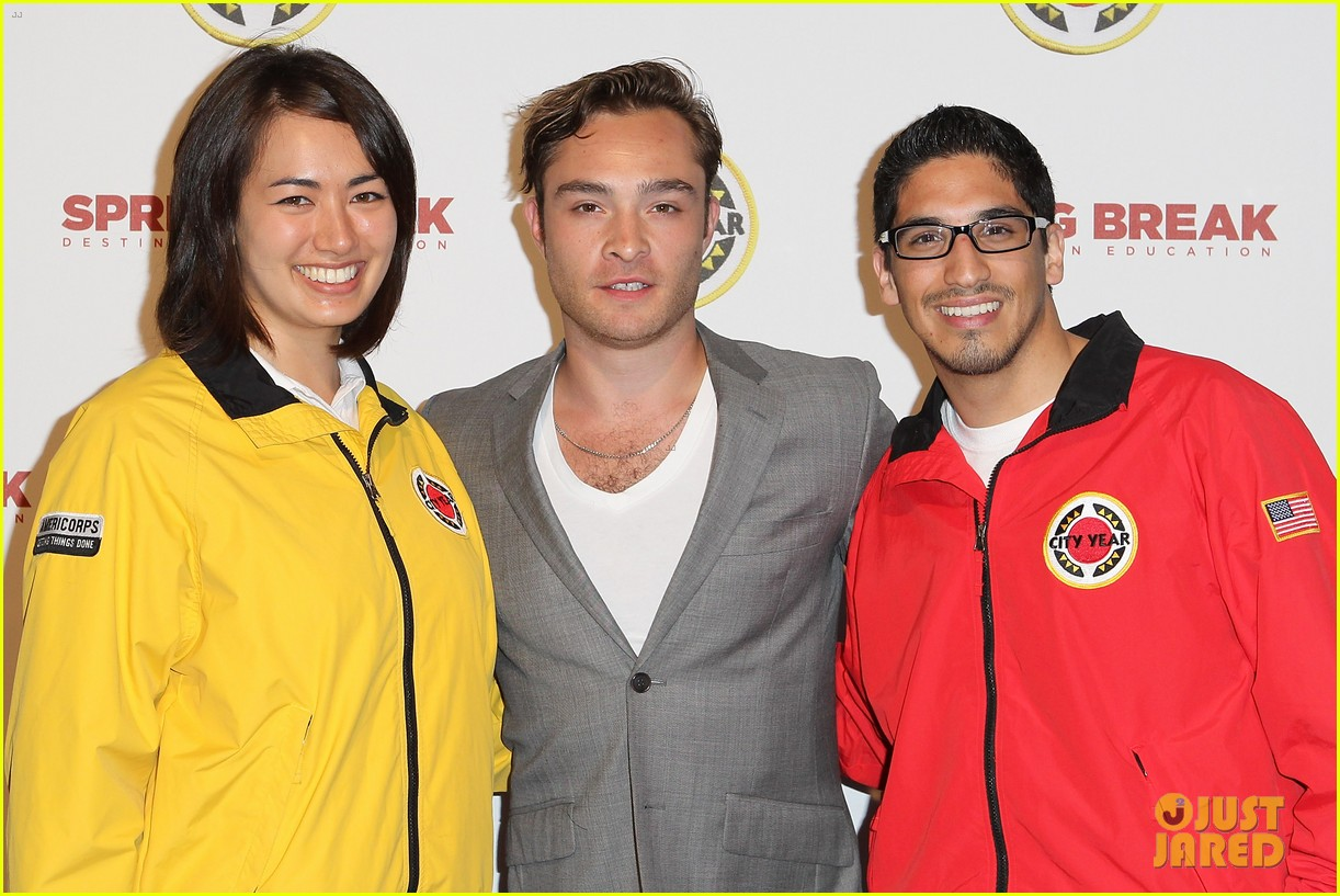 ed westwick jessica szohr city year los angeles fundraiser 2013 13