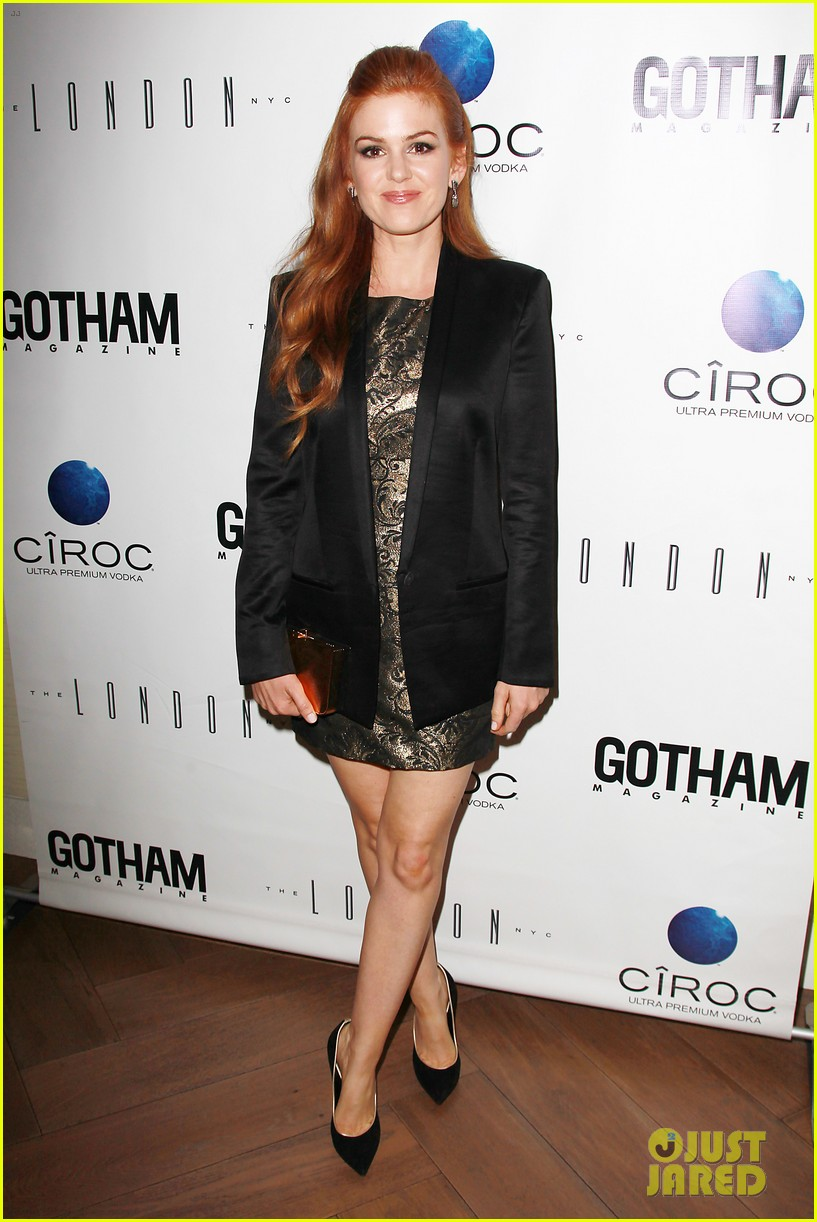 isla fisher gotham magazine cover party 092859025