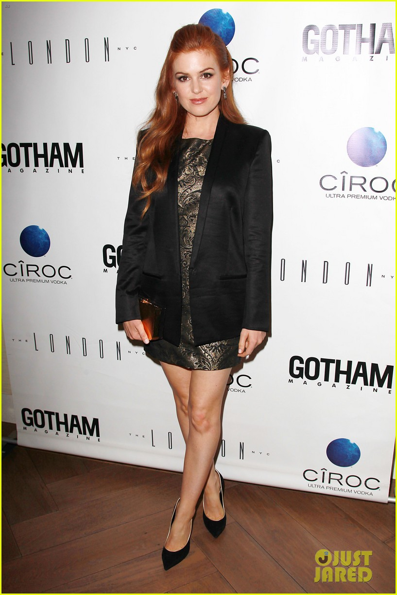 isla fisher gotham magazine cover party 10
