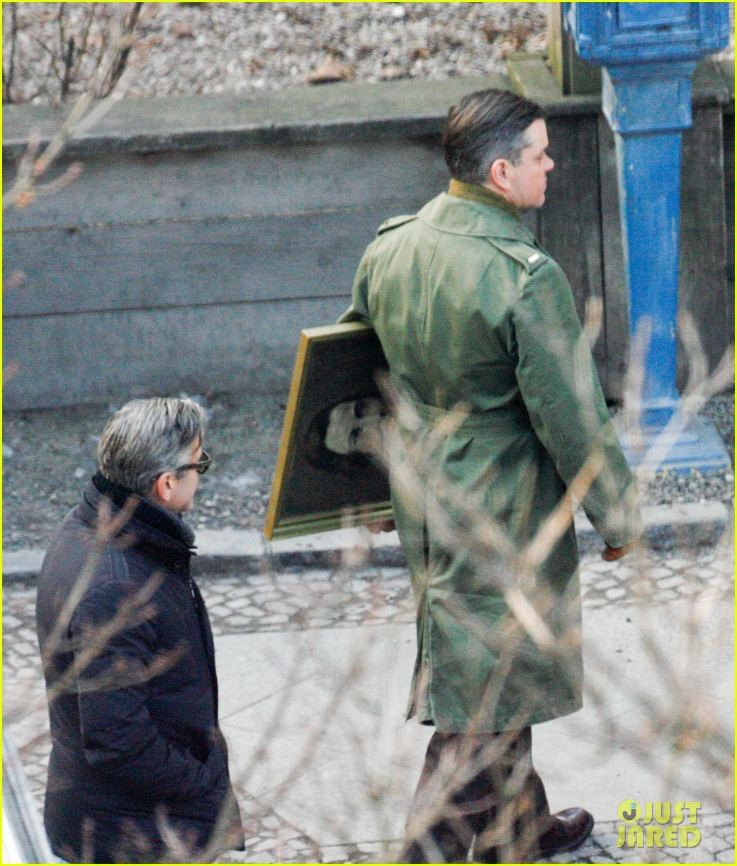 george clooney matt damon the monuments men in berlin 14