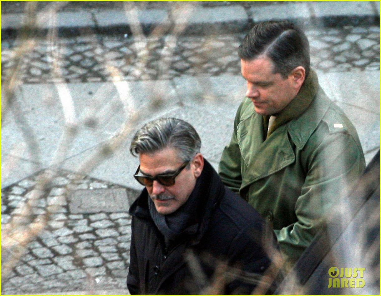 george clooney matt damon the monuments men in berlin 19