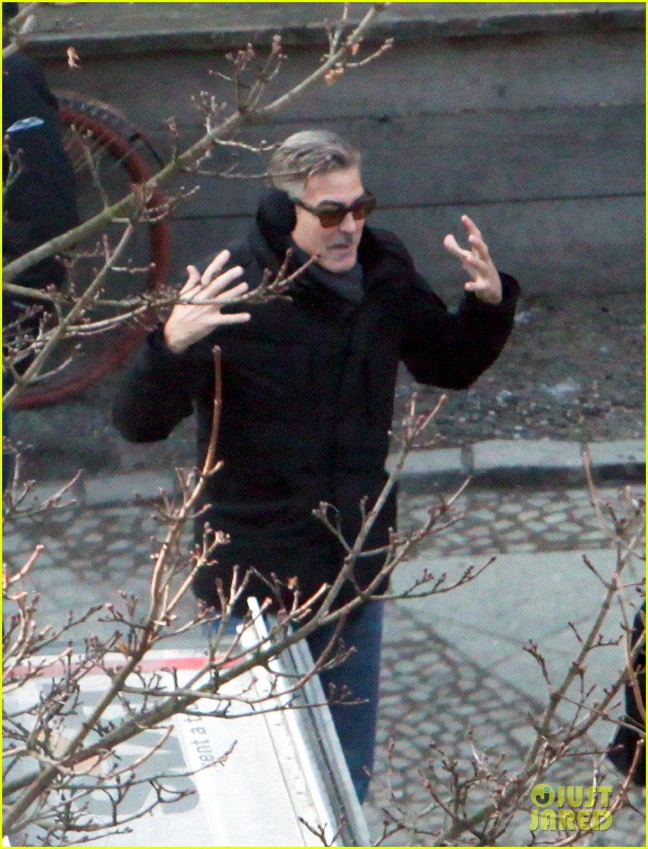 george clooney matt damon the monuments men in berlin 51