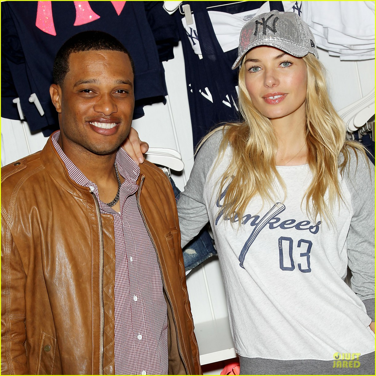 jessica hart yankees opening day new pink mlb collection celebration 26
