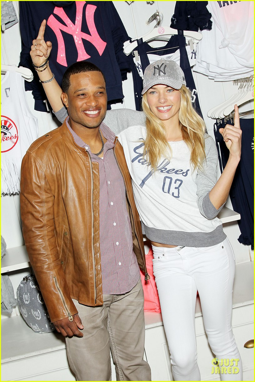 jessica hart yankees opening day new pink mlb collection celebration 35