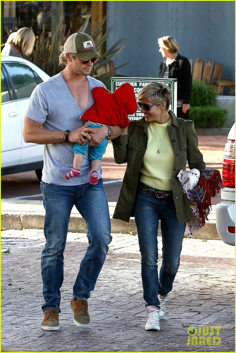 chris hemsworth elsa pataky lunchtime with india 032843654