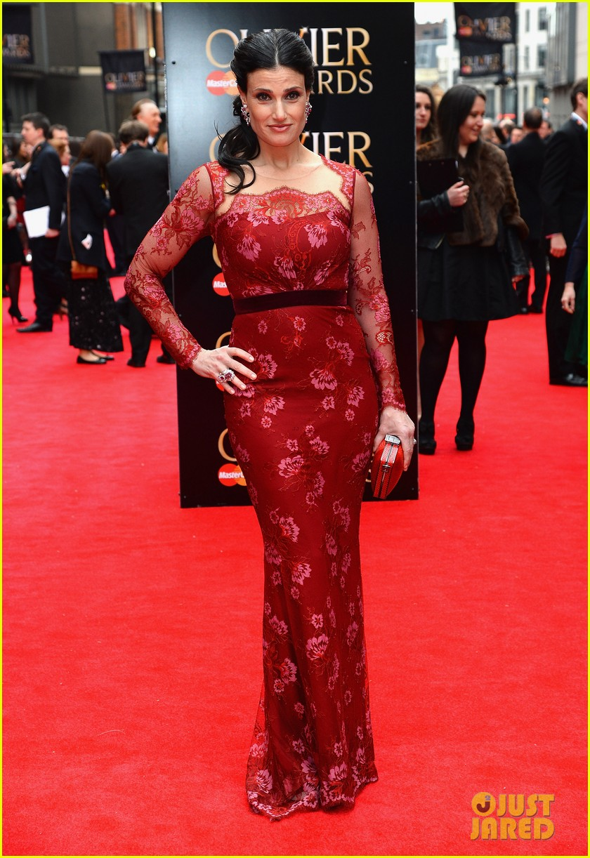 idina menzel 2013 olivier awards red carpet performance 01