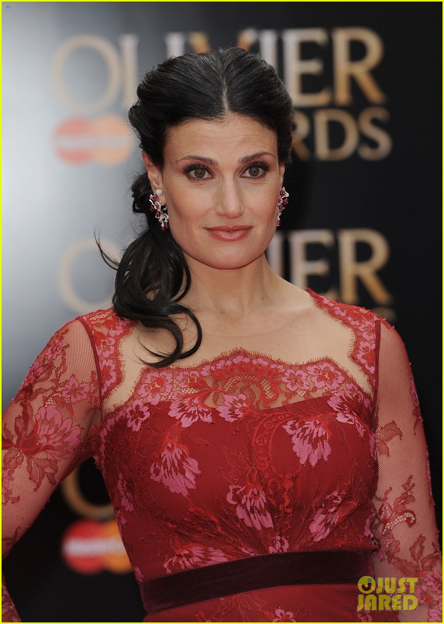 idina menzel 2013 olivier awards red carpet performance 05