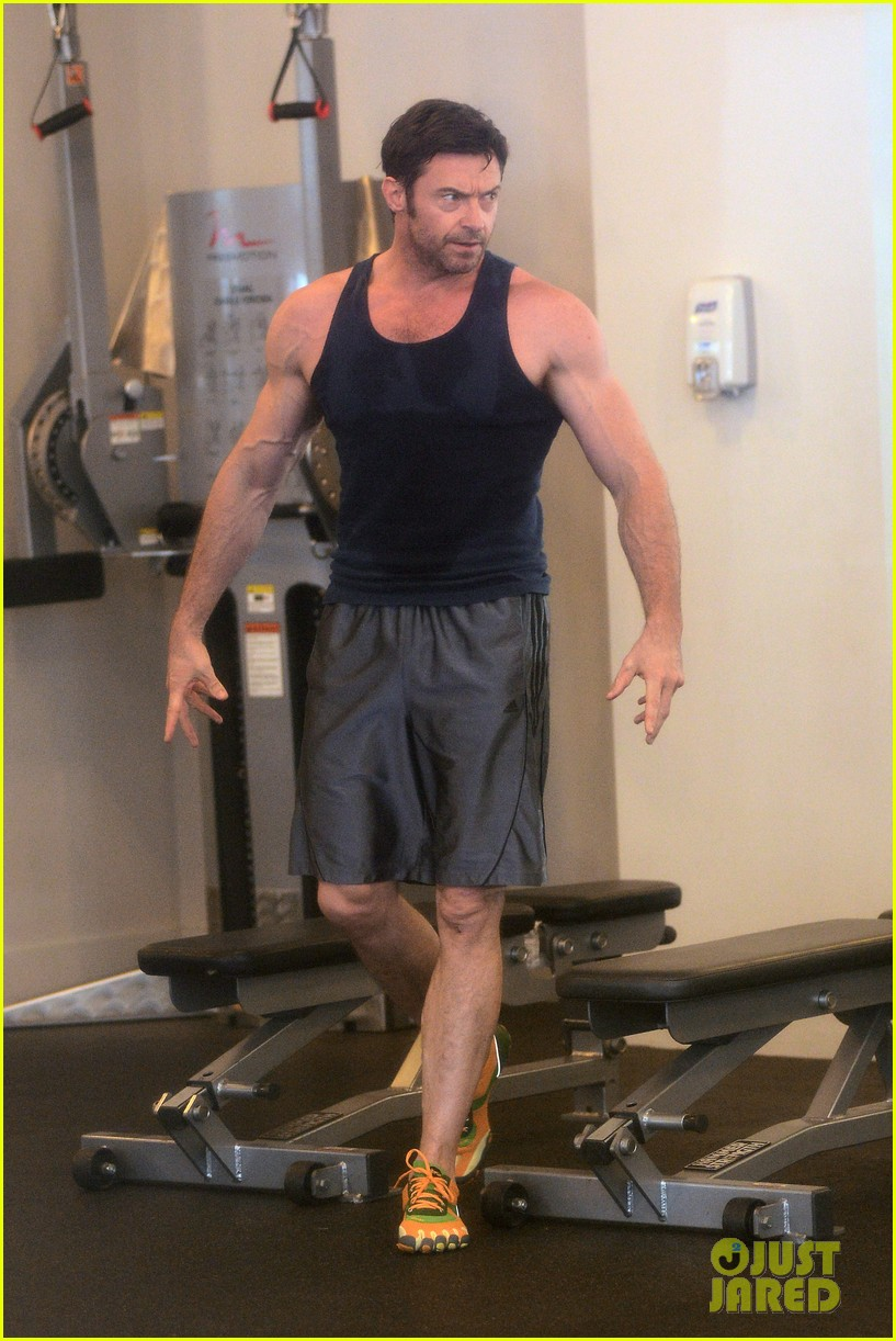 hugh jackman bulging bicep workout 162847037