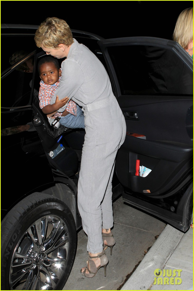 charlize theron rocks jumpsuit for dinner with jackson 03