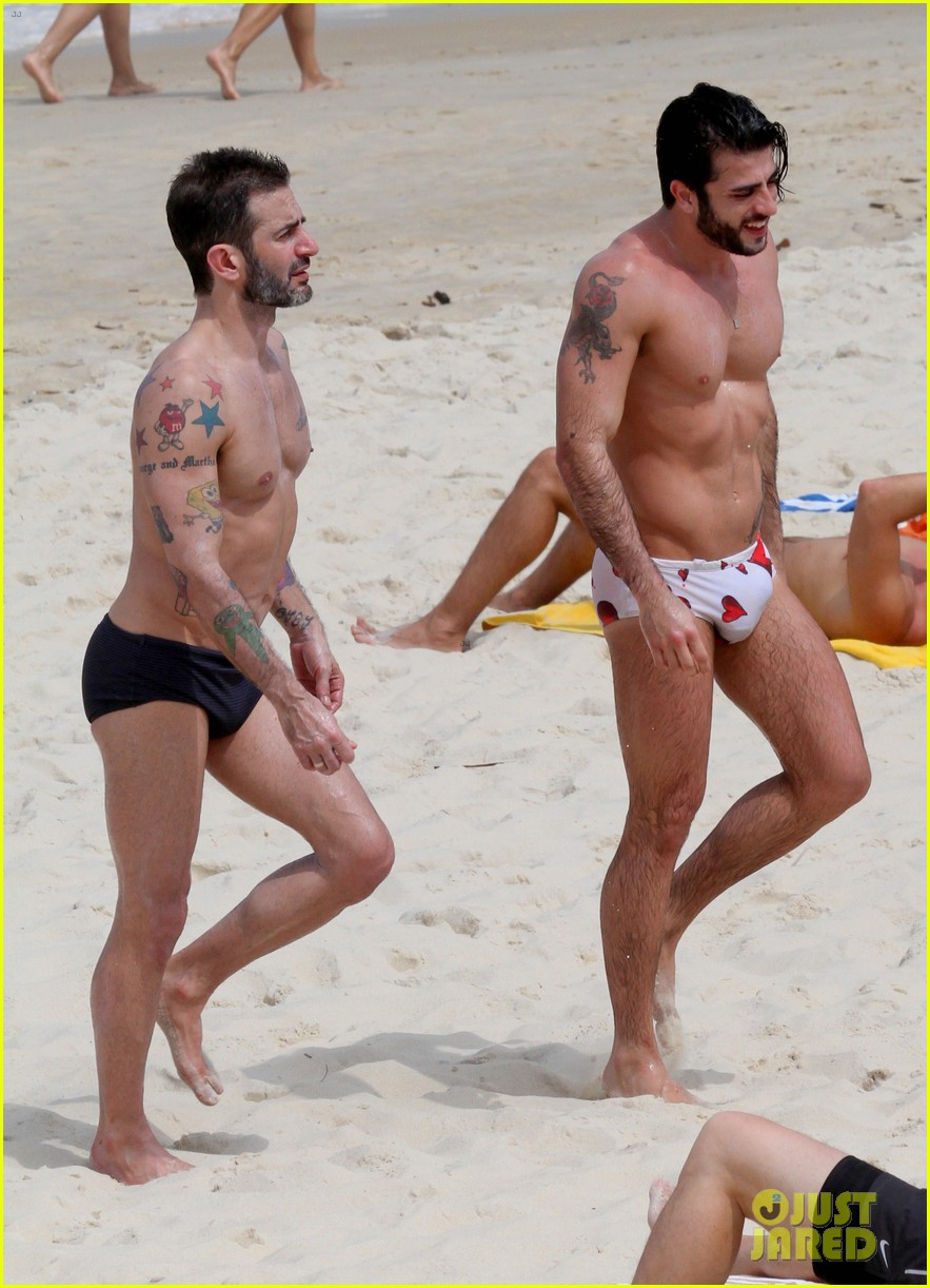 marc jacobs harry louis shirtless speedo pda in rio 222845414