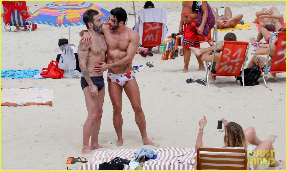 marc jacobs harry louis shirtless speedo pda in rio 242845416