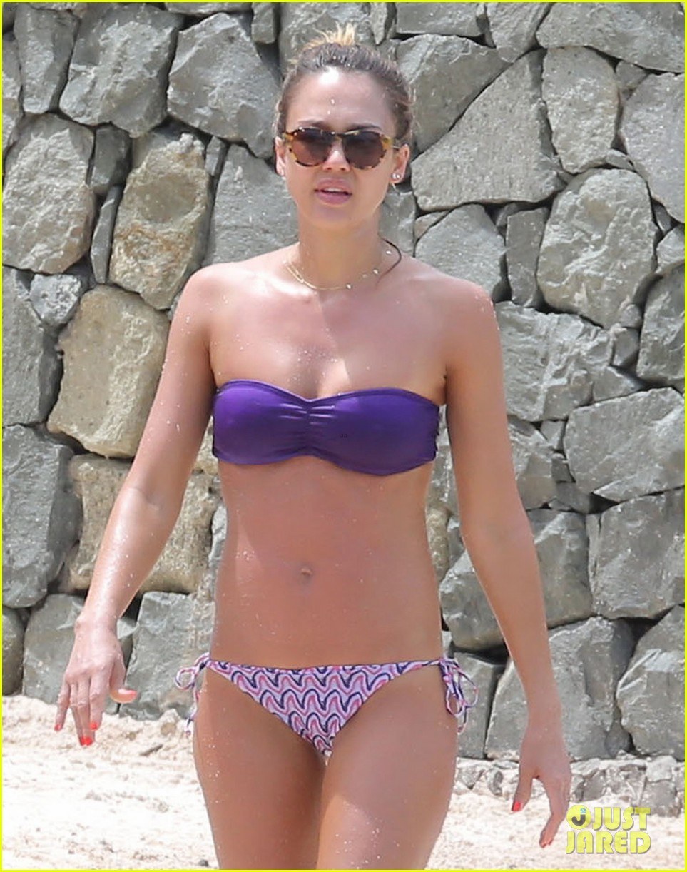 jessica alba purple bikini pretty 022844911