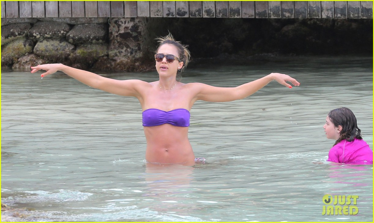 jessica alba purple bikini pretty 062844915