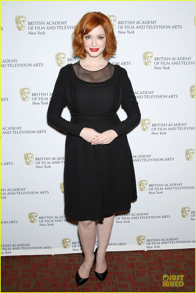 january jones christina hendricks bafta mad men panel 292856110