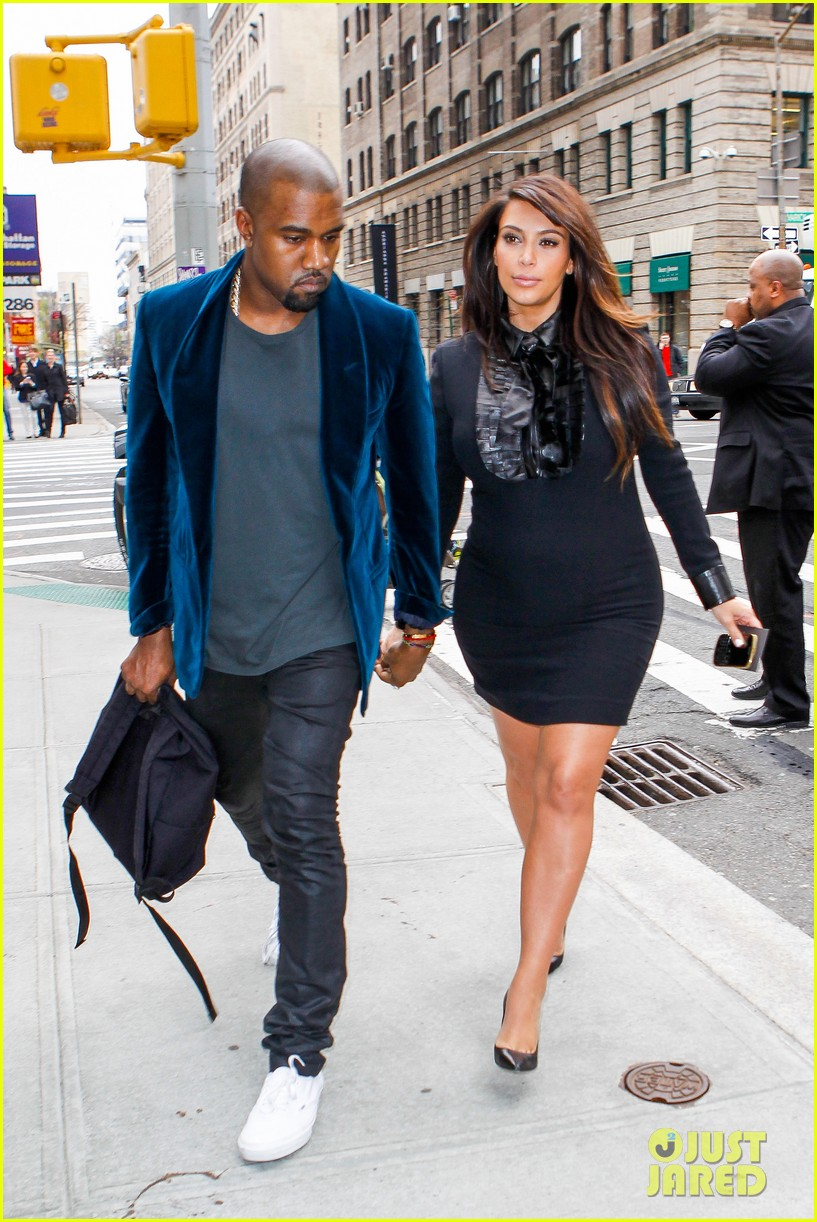 kim kardashian kanye west hold hands in nyc 072856606