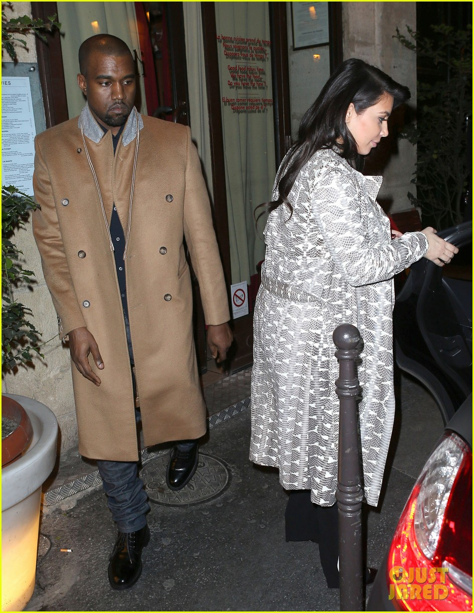kim kardashian pregnant paris getaway with kanye west 01