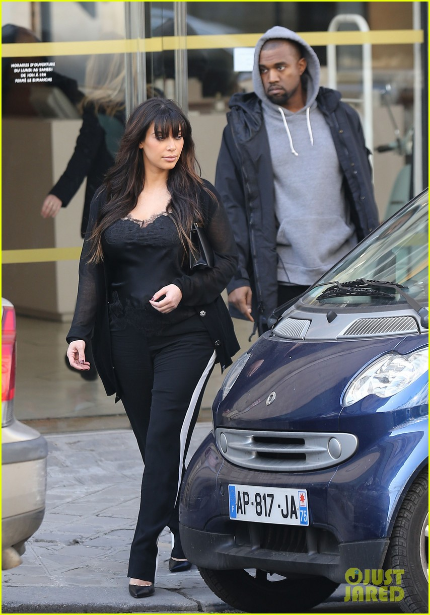 kim kardashian pregnant paris getaway with kanye west 232841983