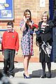 kate middleton pregnant baby bump at willows school 09