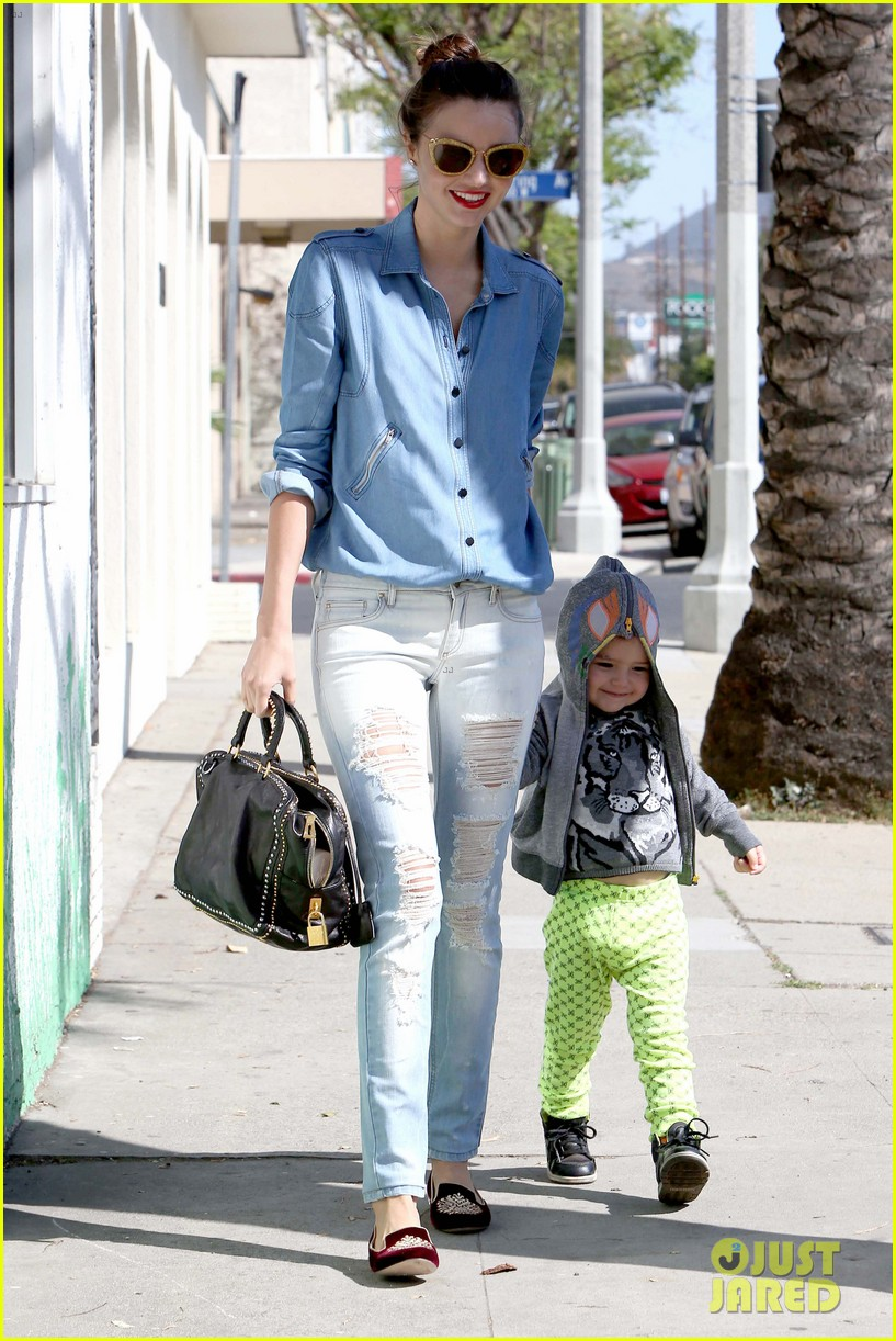 miranda kerr flynn romp around at kids gym 132845575