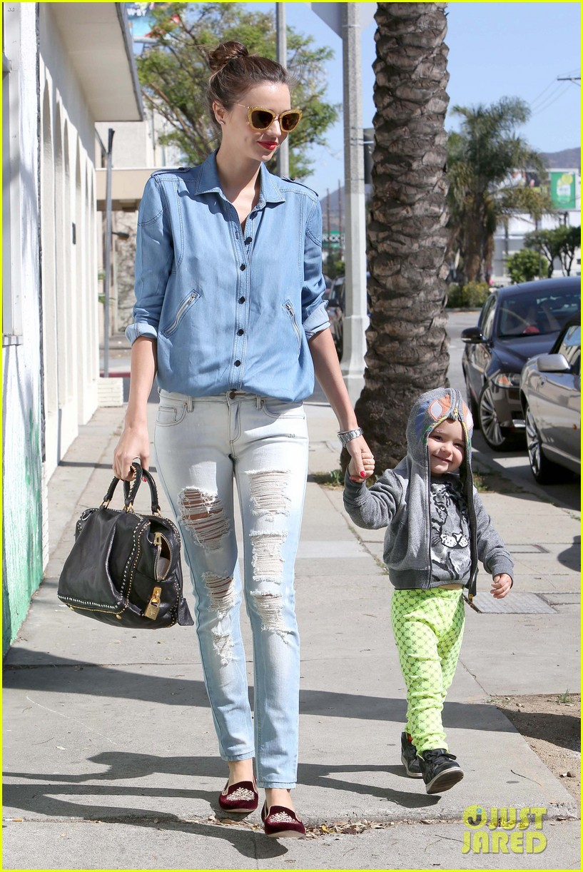 miranda kerr flynn romp around at kids gym 142845576