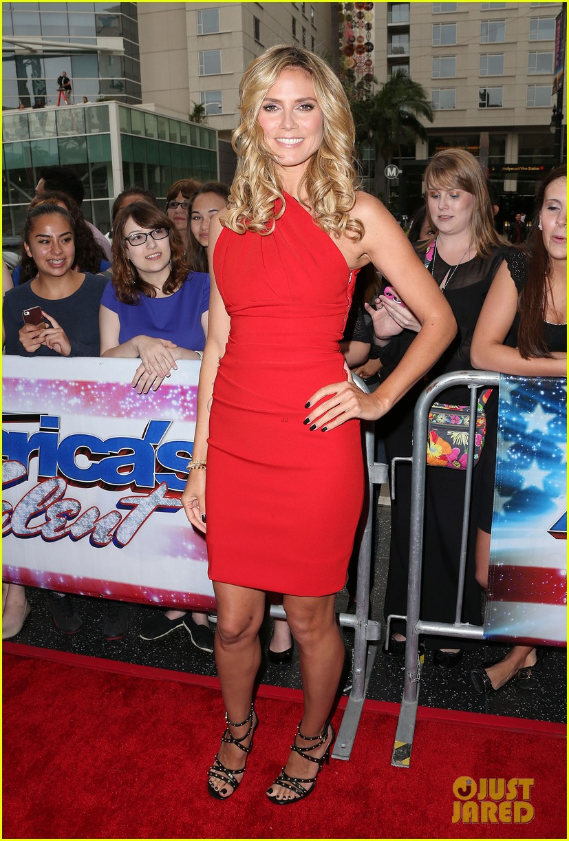 heidi klum mel b americas got talent in los angeles 09