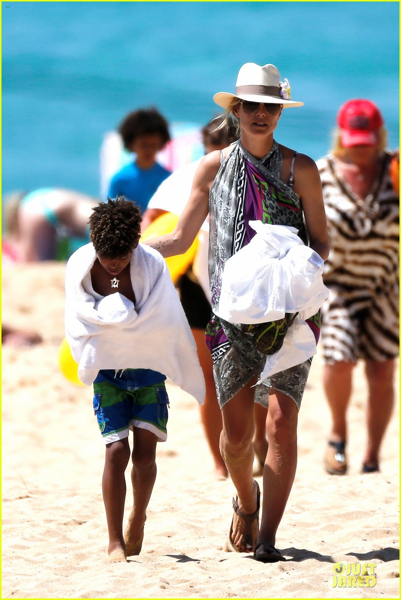 heidi klum family back in l a after hawaii drowning save 13