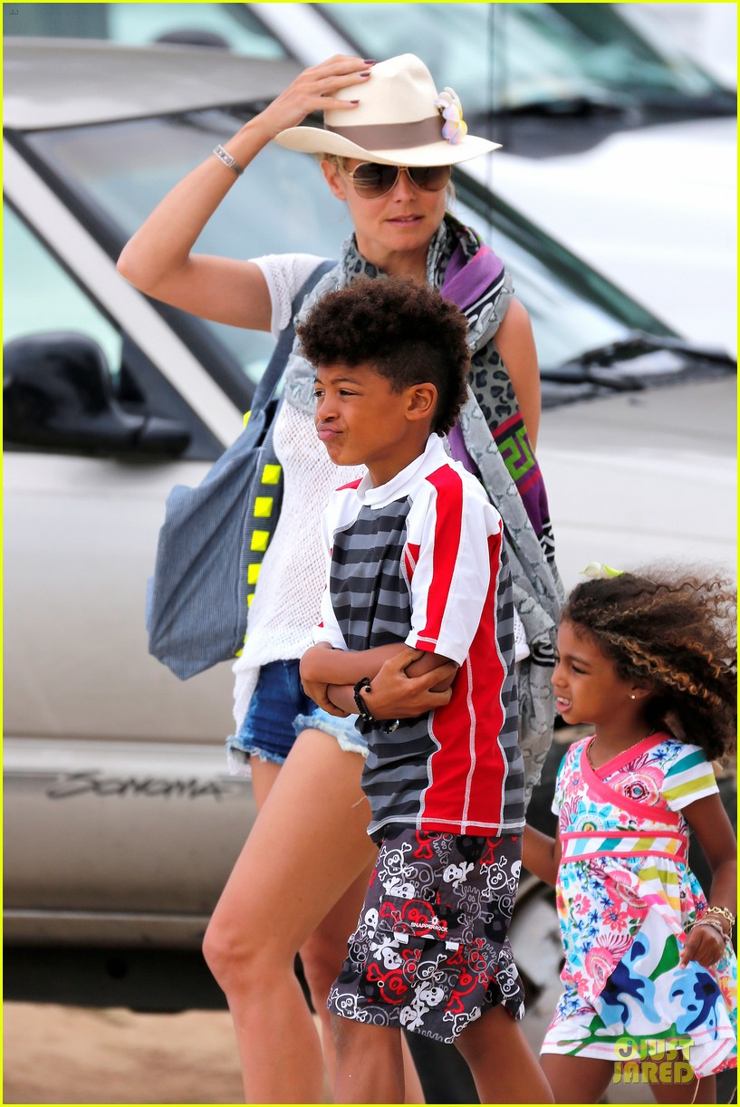 heidi klum family back in l a after hawaii drowning save 322842232
