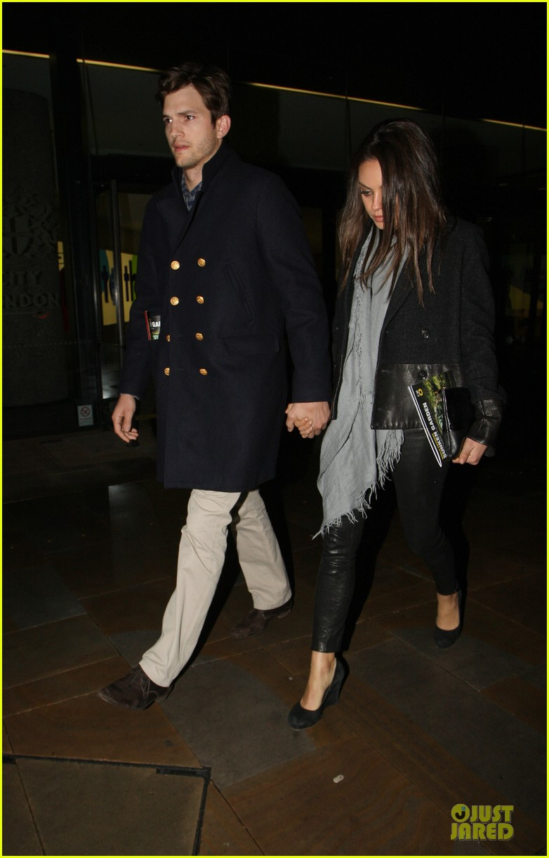 milia kunis ashton kutcher holding hands in london 16