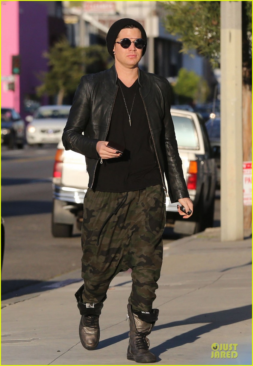 adam lambert camouflaged pants meeting 212846566