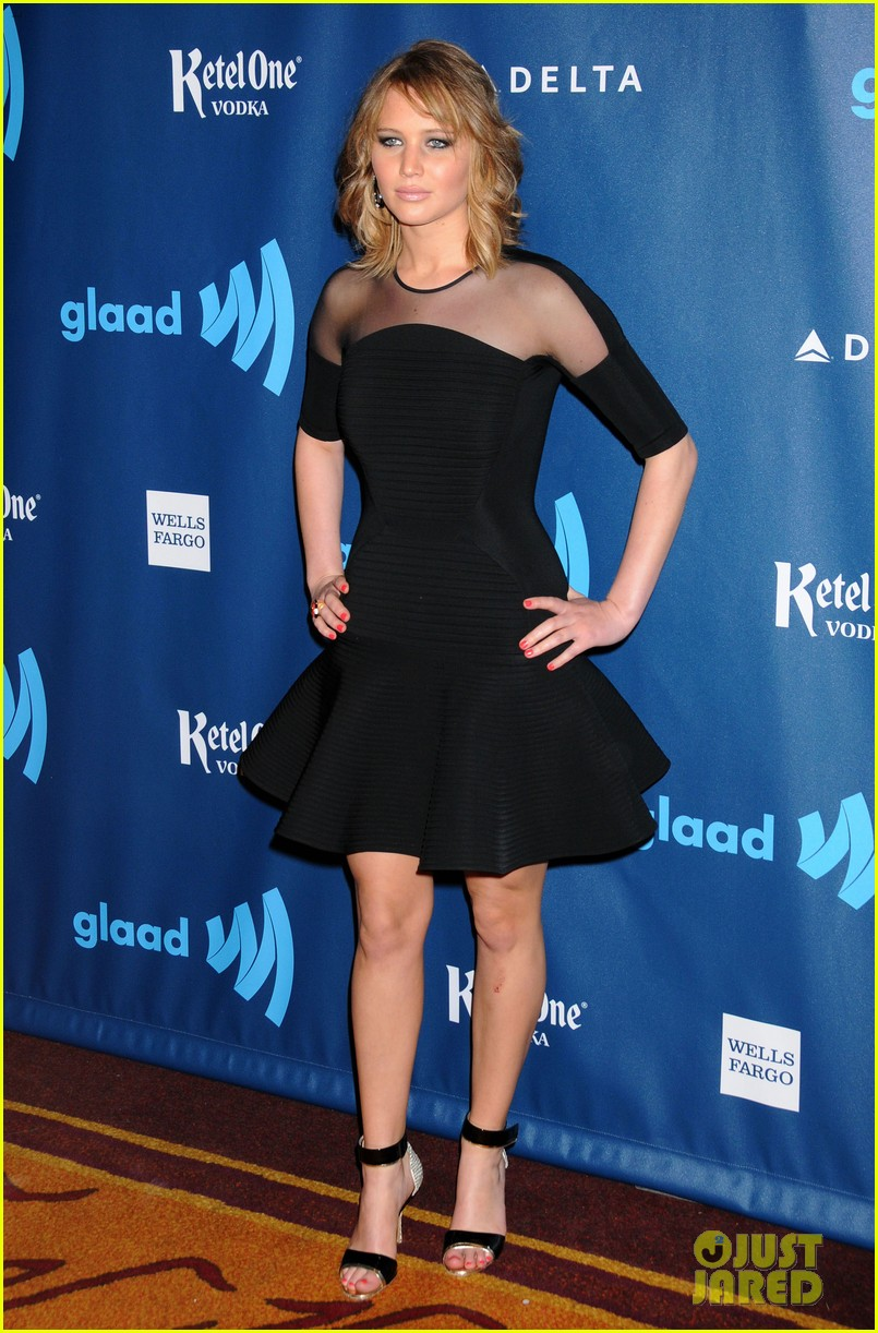 jennifer lawrence new short hair at glaad media awards 2013 07