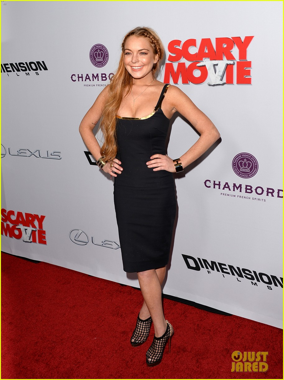 lindsay lohan scary movie 5 premiere with charlie sheen 14