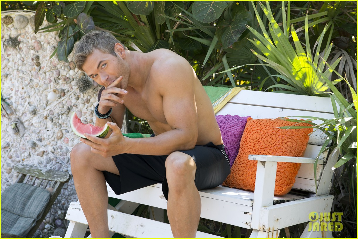 kellan lutz shirtless op campaign with bikini katrina bowden 12