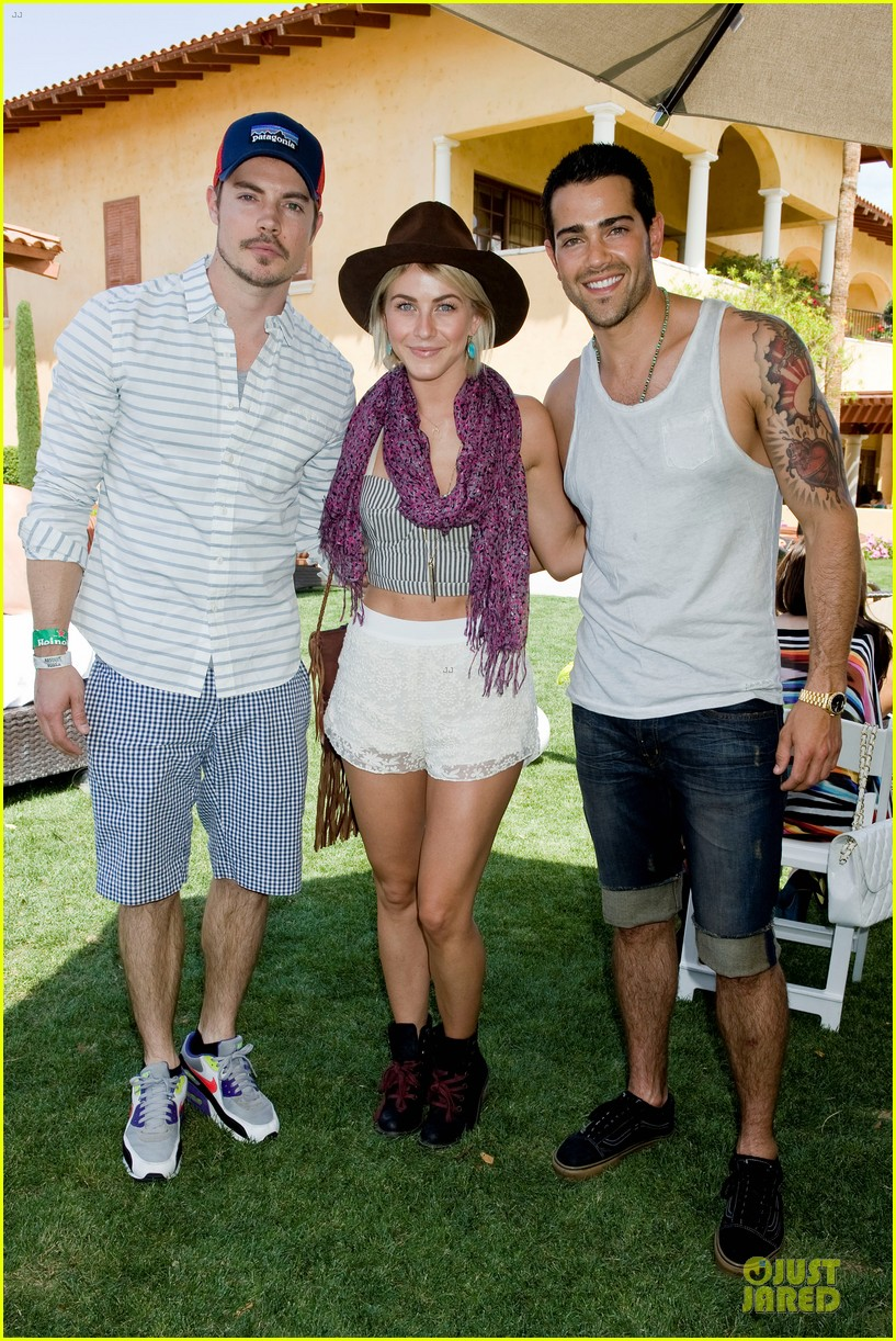 jesse metcalfe josh henderson justjared armani exchange music festival brunch 03