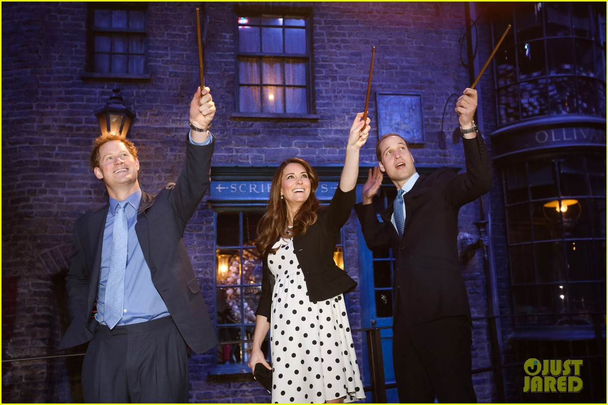 kate middleton prince william harry potter wand battle 04