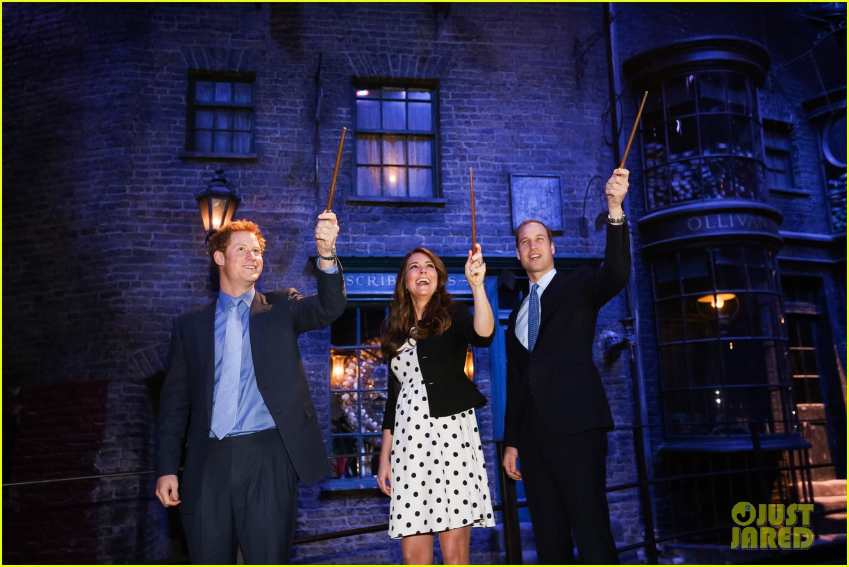 kate middleton prince william harry potter wand battle 09