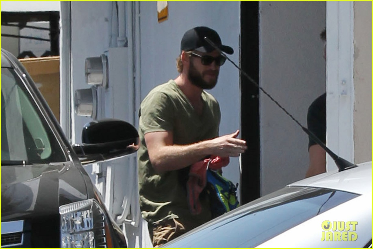 miley cyrus liam hemsworth separate cali outings 072856375