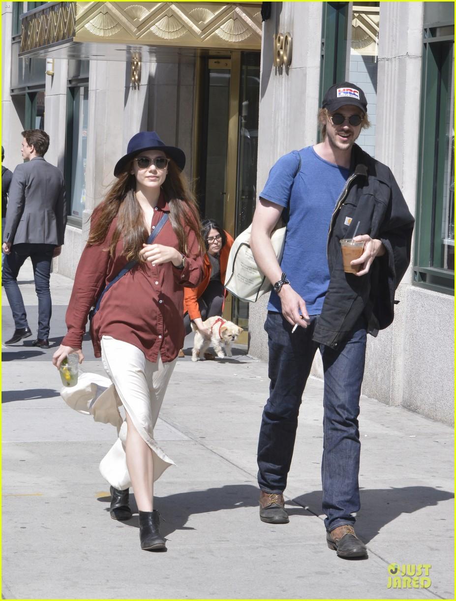 elizabeth olsen boyd holbrook soho strolling couple 162845879