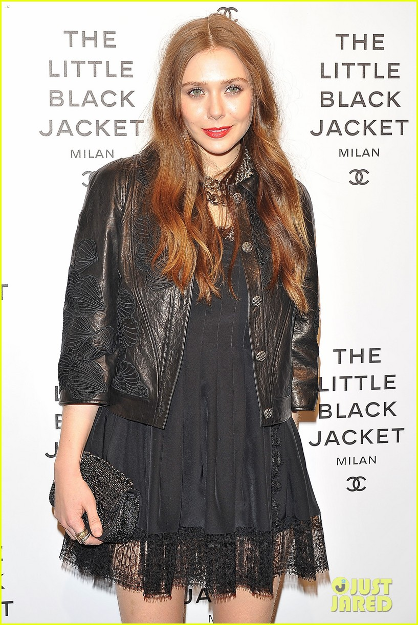 elizabeth olsen chanel little black jacket event 28